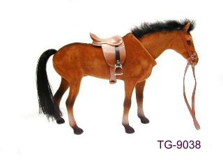 SWING HEAD HORSE WITH SADDLE & BRIDLE