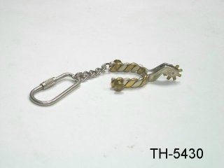 TWISTED WIRE SPUR KEY CHAIN