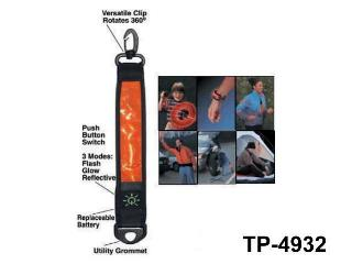 FLASH REFLECTIVE STRAP WITH HOOK