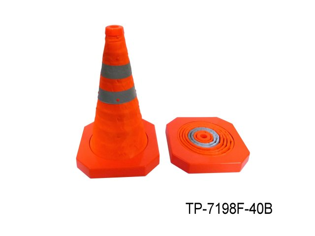 PLASTIC COLLAPSIBLE TRAFFIC CONE