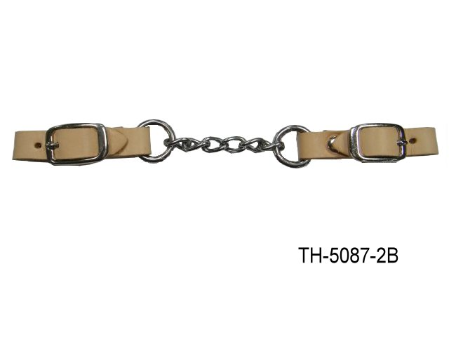 LEATHER CURB CHAIN STRAP FOR HACKMORE